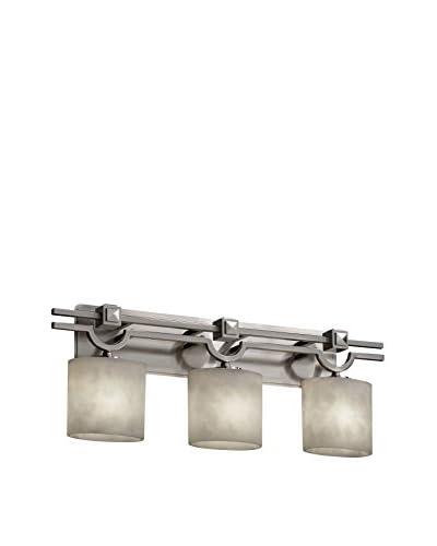 Justice Design Group Argyle 3-Light Bath Bar, Brushed Nickel