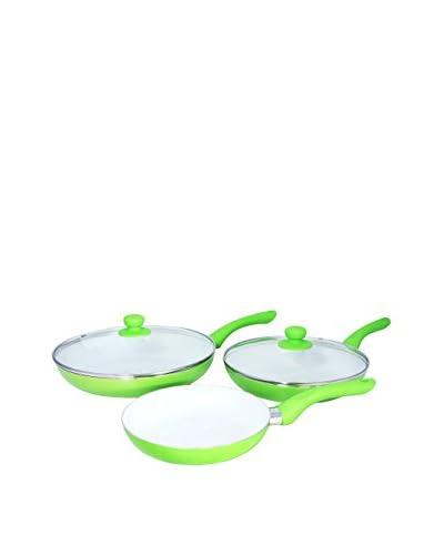 Ceramic Sartenes Cerámicas Verdes + 2 Tapas