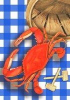 Red Steamed Summer Crab Feast Picnic Standard Flag