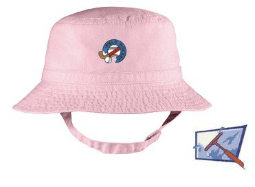 Embroidered Infant Bucket Cap with the image of: window cleaning logo