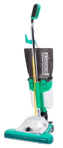 """Bissell Biggreen Commercial Bg102Dc Procup Comfort Grip Handle Upright Vacuum With Magnet, 870W, 16"""" Vacuum Width"""