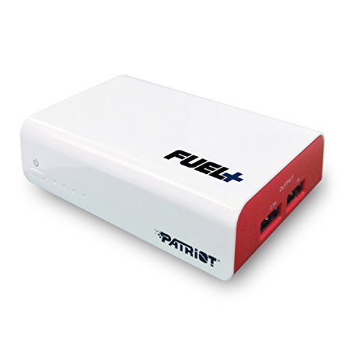 Patriot FUEL+ 9000mAh Dual-Port Rechargeable Battery Power Bank With Output Max. 3.5A ( 1A+2.5A) & 2-Year Warranty For Smartphone& Tablet PCPB90002 (Fuel Power Bank compare prices)
