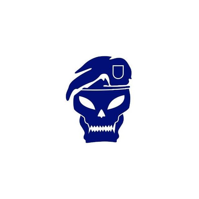 Call Of Duty Skull Sticker Decal 12 Inch Dark Blue Black Ops 2