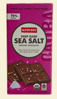 Alter Eco Deep Dark Sea Salt Organic Chocolate, 2.82 Ounce by Alter Eco