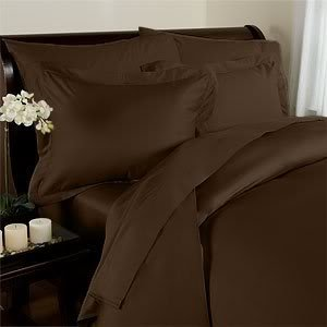 Find Discount Clara Clark Complete 7 Piece Bed Sheet and Duvet Cover Set, King Size, Brown
