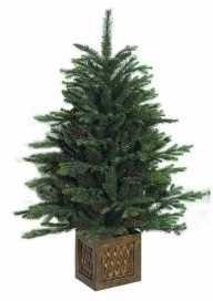Albero-di-Natale-ecologico-con-base-effetto-legno-cm-100