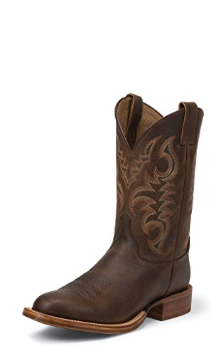 Justin Western Boots Mens Low Profile Toe 11 EE Rough Tobacco 2830 (Mens Low Profile Boots compare prices)