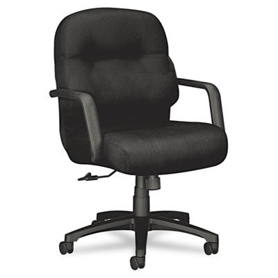Hon Mid-Back Managerial Chair, 26-1/4 by 28-3/4 by 41-3/4-Inch, Black