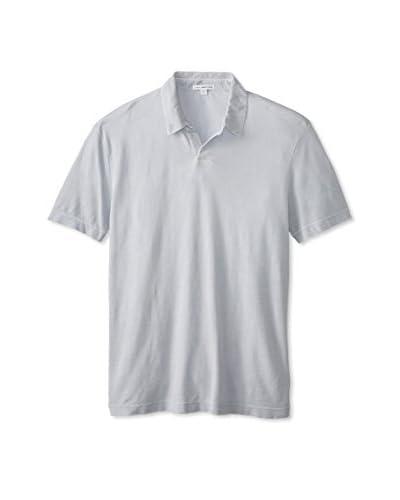 James Perse Men's Short Sleeve Classic Pique Polo