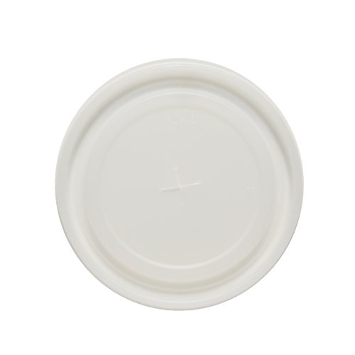 """SOLO PLX16-1720 Polystyrene Flat Lid for Cold Cup, Straw Slots, 3.6"""" x 0.3"""", Translucent (Case of 2,000)"""