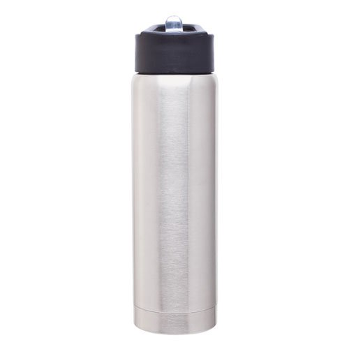 Hot Cold Double Wall Stainless Steel Thermal Water Bottle Vacuum Insulated, 17Oz. Capacity - Stainless front-770764