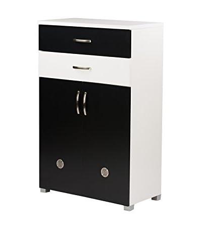 Baxton Studio Heidi 2-Tone Shoe Cabinet