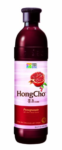 Chung Jung One Hong Cho: Drink Mix Concentrate with Vinegar (30.4oz) (900ml) Pomegranate (Pack of 2)