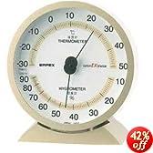 EMPEX (エンペックス) 温・湿度計 スーパーEX高品質温・湿度計 卓上用 EX-2718 シャンパンゴールド