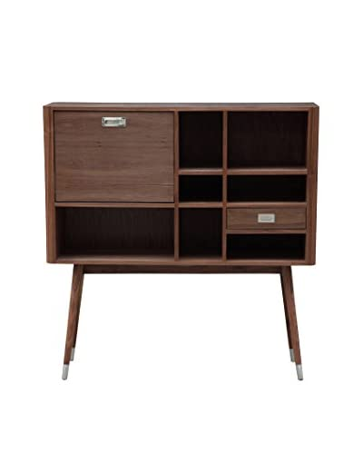Kardiel Ebb Modern Upright Credenza Sideboard, Walnut