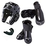 Macho Martial Arts - Dyna 5 Pc. Sparring Gear Set - Black