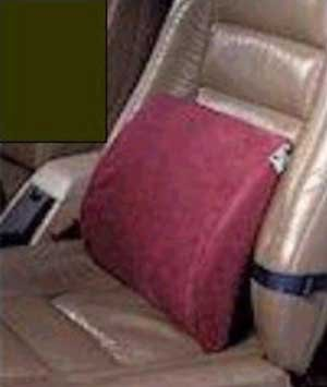 Hermell Products Bucketseat Lumbar Cushion With Black Polycotton Zippered Cover And Strap by Hermell Products Inc.