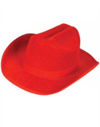 Child's Dozen Country Red Cowboy Cow Boy Felt Hat Costume Accessory