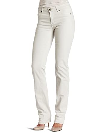Cj by Cookie Johnson Women's Faith Straight Leg Jean, Bone, 26