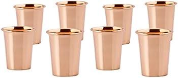8-Set Old Dutch Shot Copper Mugs