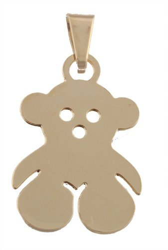 Small Gold Filled Teddy Bear Pendant