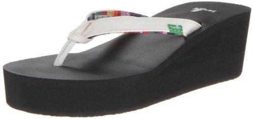 Wedge Flip Flops White