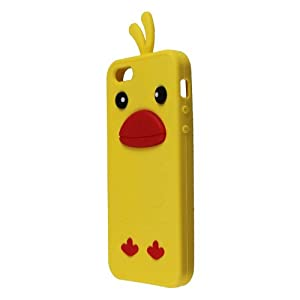 Amazon.com: ASleek Yellow Soft Silicone Duck Shape Design ...