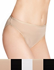 5 Pack No VPL Microfibre High Leg Knickers