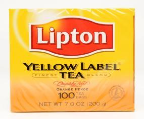 Lipton Yellow Label Tea, 12 Boxes (100 Tea Bags per Box)