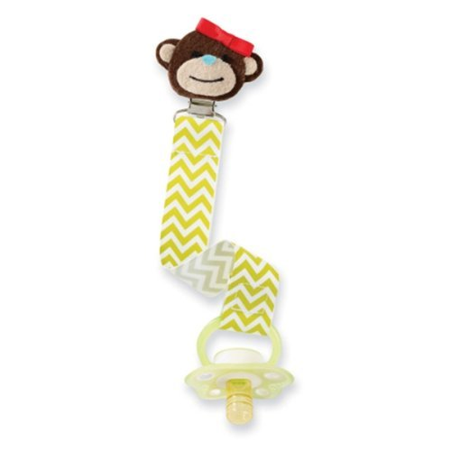 Mud Pie Baby Pacifier Clip Keeper - Monkey - 1