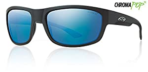 Smith Optics Dover Lifestyle Polarized Sunglasses, Matte Black/Chromapop Blue Mirror