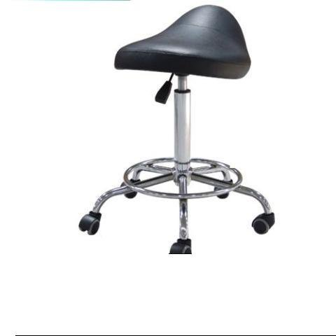 Healthline Movable Gas Lift Massage Salon Facial Bar Stool Office Chair Height Adjustable Black