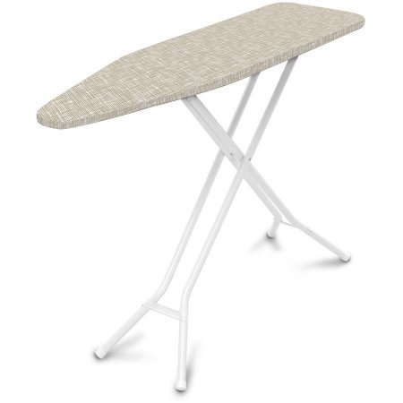 Mainstay 4 Leg Ironing Board, Nuetral Cross-Hatch Cover, Professional 4-leg design for stylish stability (Ironing Board Mainstays compare prices)