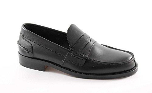 LION 1737 nero scarpe uomo mocassini college original crichet line of scotland