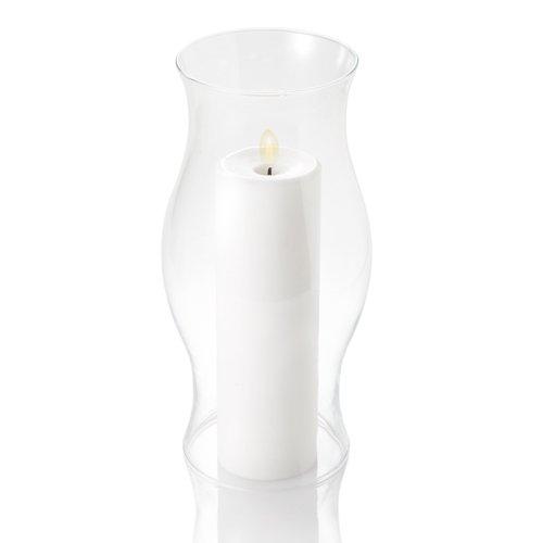 "Glass Pillar Hurricane Lamp 12"""