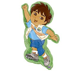 Go Diego Go Mylar Balloon Super Shape Pkg/1 - 1