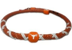 Ncaa Texas Longhorns Classic Spiral Football Necklace