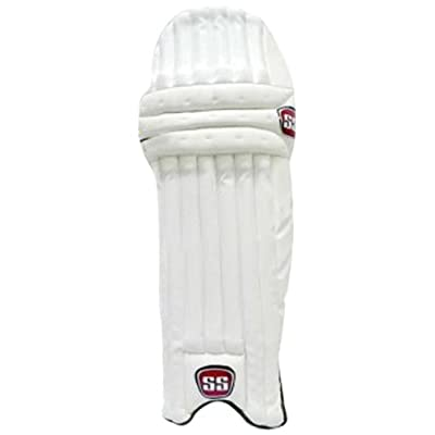 SS Ranji Lite Men's RH Batting Legguard (White/Black)