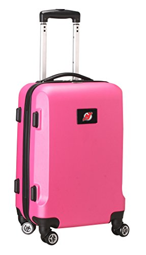 denco-nhl-new-jersey-devils-hardcase-domestic-carry-on-spinner-pink-20-inch
