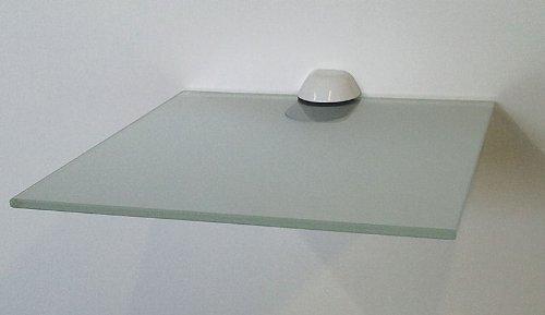 oncom gorenk glasregal quadrat 25x25 cm klarglas mit 1 clip xl edelstahl finish glasablage. Black Bedroom Furniture Sets. Home Design Ideas