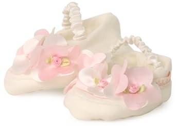 Amazon.com: Biscotti Baby-girls Newborn Petals Booties, Ivory, One