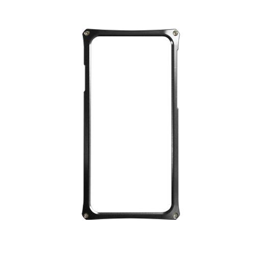 Abee アビー Apple iPhone 6 Plus 専用アルミジャケット 化研アルマイト 日本製 AJ-6PX01-BKK ブラック