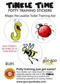 Tinkle Time Reusable Potty Training Stickers - Potty Train in a day! Bug Theme