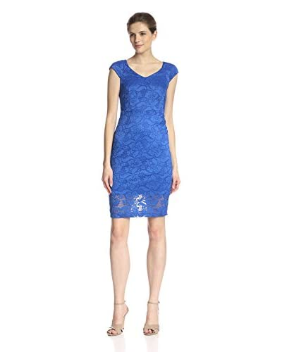 Alexia Admor Women's Cap Sleeve Lace Sheath Dress