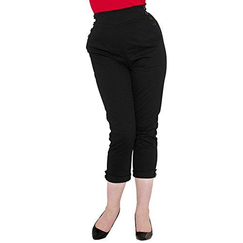 Pantaloni Capri Henrietta Voodoo Vixen (Nero)
