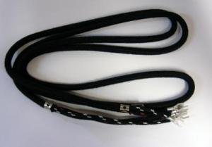 Cloth Covered Telephone Handset Phone Cord - Black - Hardwire