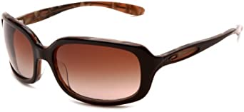 Oakley Women's Disguise Square Sunglasses,Brown Taffy Frame/Dark Brown Gradient Lens,One Size