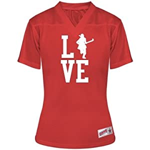 Love Field Hockey: Junior Fit Soffe Mesh Football Jersey by Customized Girl