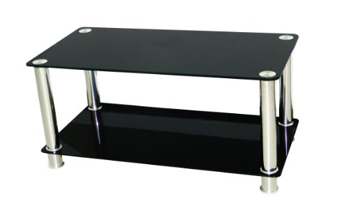 Premier AV Black Glass Coffee Table & LCD/LED/PLASMA TV STAND Up To 42 Inch