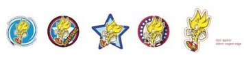 Sonic the Hedgehog Gacha Magnets - Magnet Set: Super Sonic (5 Magnete)